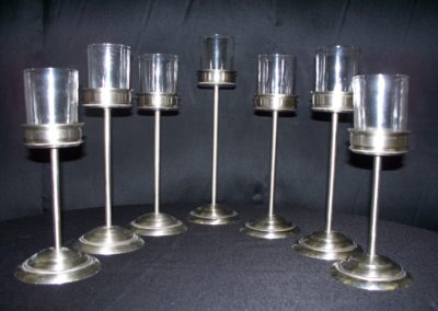 Silver & Glass Votive Holders $3 ea