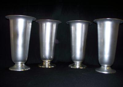 Medium Silver Pedestal Vase $5.00