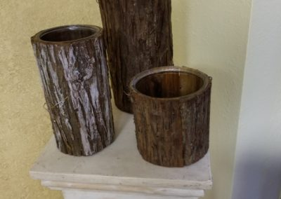 Wood Bark Vases $3 - $5 each