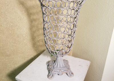 Iron Vase $15