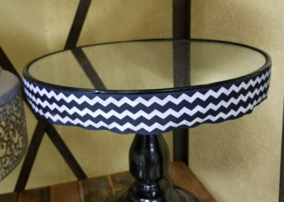 "Black & White Cheveron Cake Stand 10"" - $15.00"