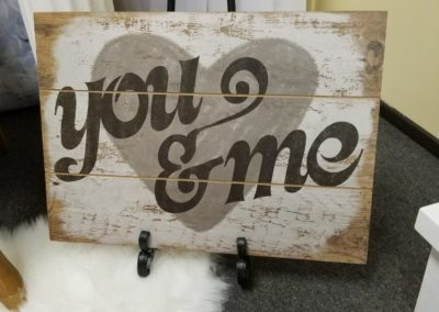 You & Me Sign $2.00