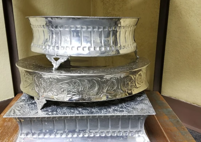 Assorted Sliver cake stand