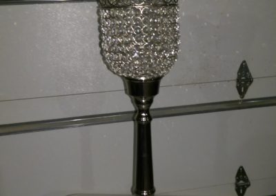 "Tall Diamond Candle Holder 30"" Tall $45.00"