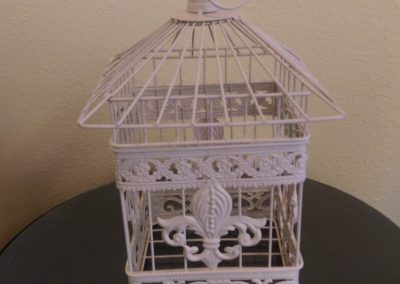 White Birdcage $15
