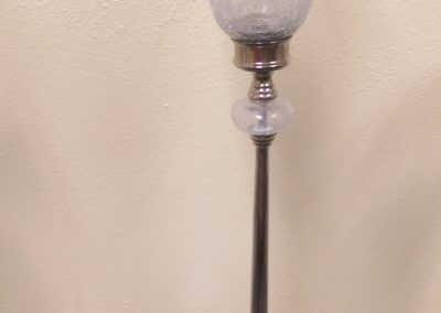 "Tall Glass and Chrome Flower Vase 39"" Tall $35"