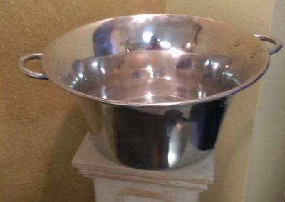 Large Stainless Steel Wine Bin $20