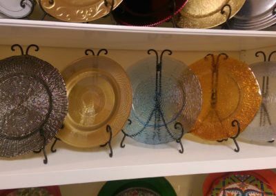 Assorted Glass Chargers $8.00
