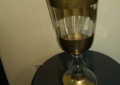 Large Gold Pedestal Vase $20