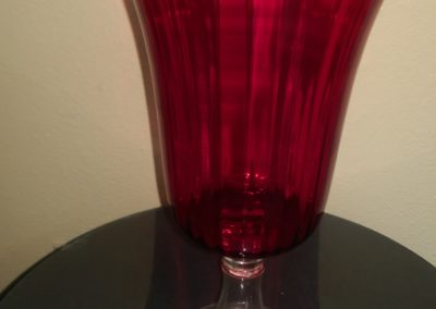 Large Red Pedestal Vase $10.00