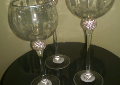 Diamond Wine Vases Set of 3 $25.00