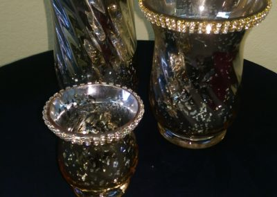 Diamond Rim Mercury Glass Vases $8 - $15