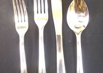 Stainless Steel Flatware Salad, Dinner Fork - Knife, Teaspoon, Soup Spoon $0.30 each