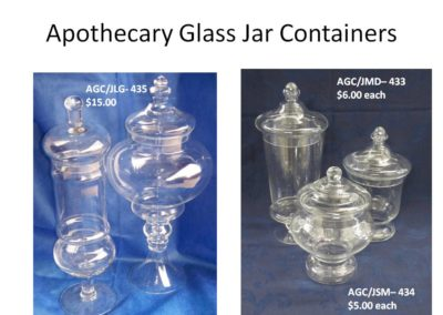 Assorted Apothecary Glass Containers