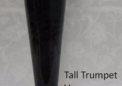 Tall Black Trumpet Vase $18