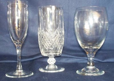 Beverage Glasses $0.50