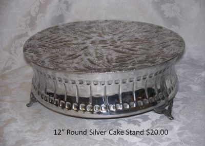 "12"" Rd Cake Stand $20"