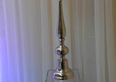 "Tall Globe Diamond Candle Holder 30"" Tall $55"