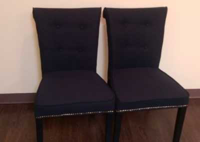 Black Tufted Upholstered Chair Set for $50.00